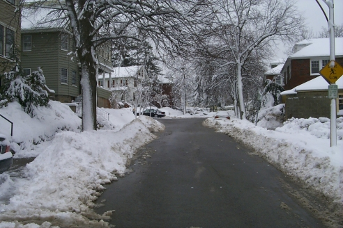 Looking up my street