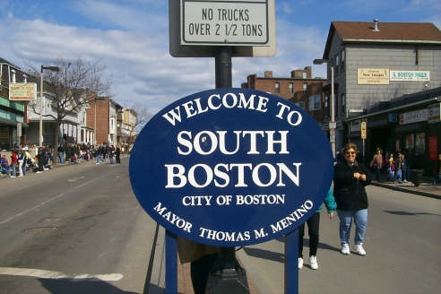 Site of the South Boston Saint Patrick's Day Parade this past March 18th 2001.