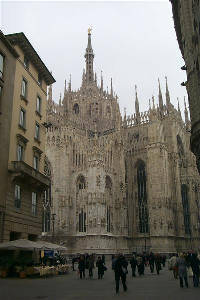 On my fourth trip to Switzerland for work, my colleague and I decided to take a weekend trip to Milan.  Here in the center of Milan is the Duomo.