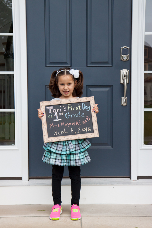Tori's 1st day of 1st Grade